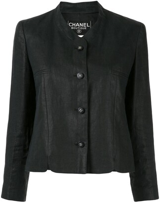Chanel Pre Owned 1996 Collarless Slim-Fit Jacket
