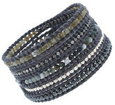 Chan Luu Sterling Silver and 14 Kt. Gold Vermeil Leather Wrap Bracelet