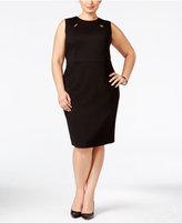 Kasper Plus Size Keyhole Sheath Dress