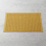 "Crate & Barrel Thirsty DotsTM Saffron 34""x22"" Doormat"