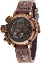 U-Boat 8096 Chimera Net leather strap watch