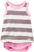 Coccoli Striped Skirted Bodysuit (Baby Girls)