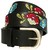 Desigual Women's Cint_embroidered Caribou Belt