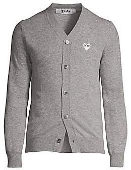 Comme des Garcons Men's Wool Logo Cardigan