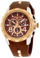 Mulco Deep MW1-29382-033 Rose Gold Tone Stainless Steel & Silicone Quartz 45mm Unisex Watch