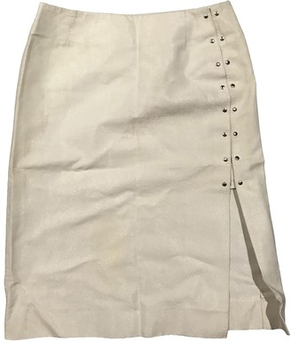 Louis Vuitton Ecru Cotton Skirts