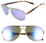 Oakley Women's 'Feedback' 59Mm Polarized Sunglasses - Polished Gold/ Violet/ Polar