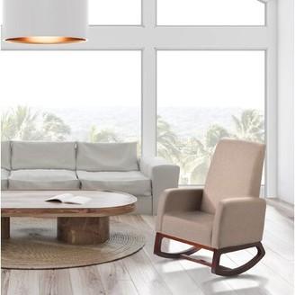 Corrigan Studio Gwyneth Rocking Chair Color: Beige