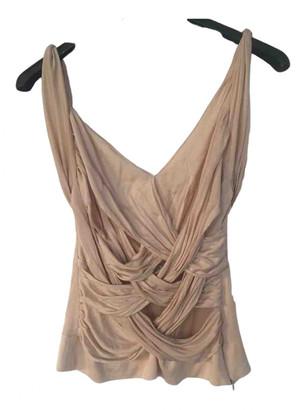 Christian Dior Beige Silk Tops
