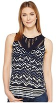 Lucky Brand Women's Batik Drop Needle Top