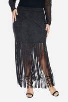 Fashion to Figure Darana Fringe Maxi Skirt