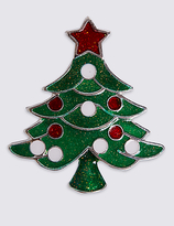M&S Collection Christmas Tree Brooch
