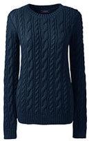 Lands' End Women's Plus Size Drifter Cotton Sweater-Radiant Navy