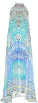 Camilla Sultans Gate-print silk maxi dress