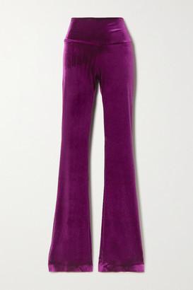 Norma Kamali Stretch-velvet Bootcut Pants