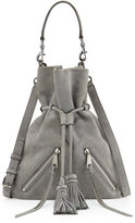 Rebecca Minkoff Large Moto Drawstring Crossbody Bag, Gray