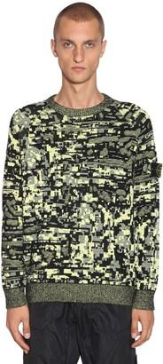 Stone Island Camo Digital Cotton Jacquard Sweater