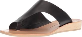 Dolce Vita Women's HAZLE Slide Sandal Black Leather 6 M US