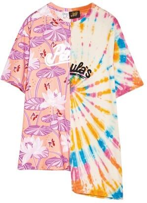Loewe X Paula'S Ibiza Asymmetric Two-Print T-Shirt