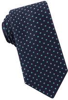 Black Brown 1826 Narrow Diamond Print Tie