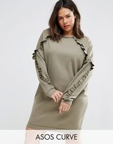 Asos Sweat Dress With Frill Detail
