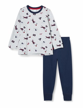 Sanetta Boys' Schlafanzug Hellgrau Melange Pajama Set
