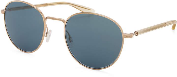 Barton Perreira Tudor Men's Universal-Fit Round Sunglasses