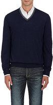 Brunello Cucinelli Men's Wool-Cashmere V-Neck Sweater