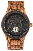 WeWood Men's Kardo Multifunctional Wood Bracelet Watch, 46Mm