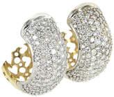 One Kings Lane Vintage Pavé Diamond Hoop Earrings