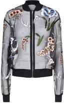 Markus Lupfer Charlotte Underwater Embellished Bomber Jacket