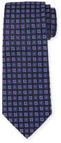 Armani Collezioni Neat Box Silk Tie, Blue/Navy