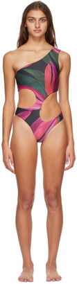 Louisa Ballou Pink Carve One-Piece Swimsuit