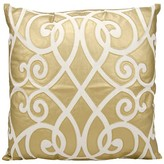 Nourison Leather Geo Decorative Pillow