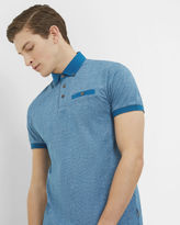 Ted Baker Printed cotton polo shirt