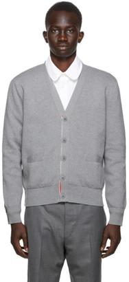 Thom Browne SSENSE Exclusive Grey Intarsia Cardigan