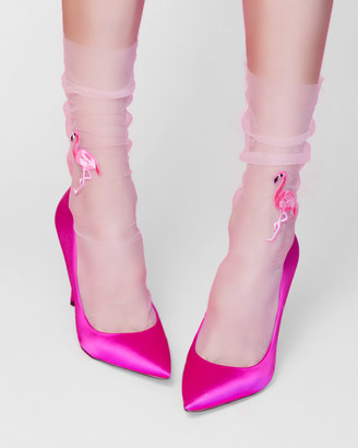 High Heel Jungle - Women's Pink Socks - Flamingo Sock - Size One Size, One size at The Iconic