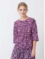 Somewhere Woman's pure cotton tunic with exclusive Blossom print, HIRAYU