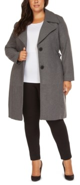 Black Tape Plus Size Belted Coat