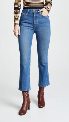 KHAITE Benny Crop Flare Jeans
