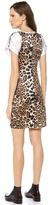 Rodarte Leopard Silk T-Shirt Dress
