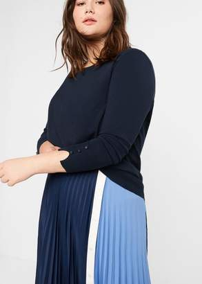 MANGO Violeta BY Fine-knit sweater green - XS - Plus sizes