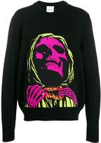 Nasaseasons skull face detail sweater