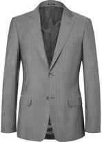 Alexander McQueen Grey Slim-Fit Wool and Mohair-Blend Suit Jacket