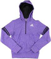 adidas Youth Big Girls Fleece Quarter Zip Pullover Hoodie (X-Large )