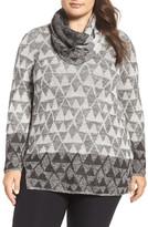 Nic+Zoe Starstruck Scarf Neck Knit Top (Plus Size)