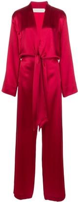 Mason by Michelle Mason Kimono Tie Jumpsuit