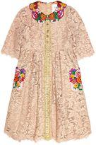 Dolce & Gabbana Embroidered Trim Lace Dress