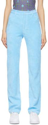 MAISIE WILEN Blue Mockumentary Trousers