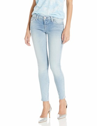 True Religion Women's Halle Mid Rise Skinny Leg fit Jean with Back Flap Pockets